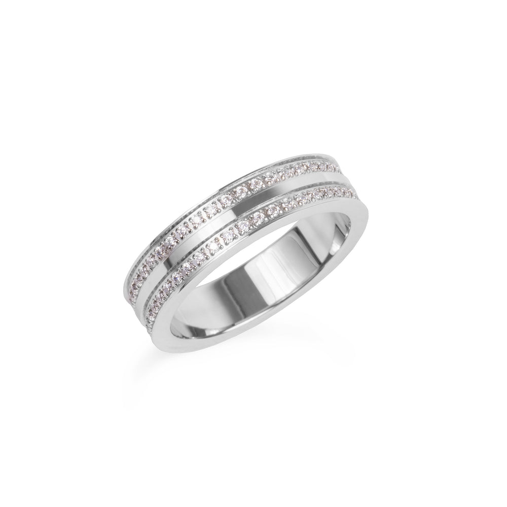 double eternity ring stainless steel women bague éternité acier inoxydable femme MIA T419R003AR