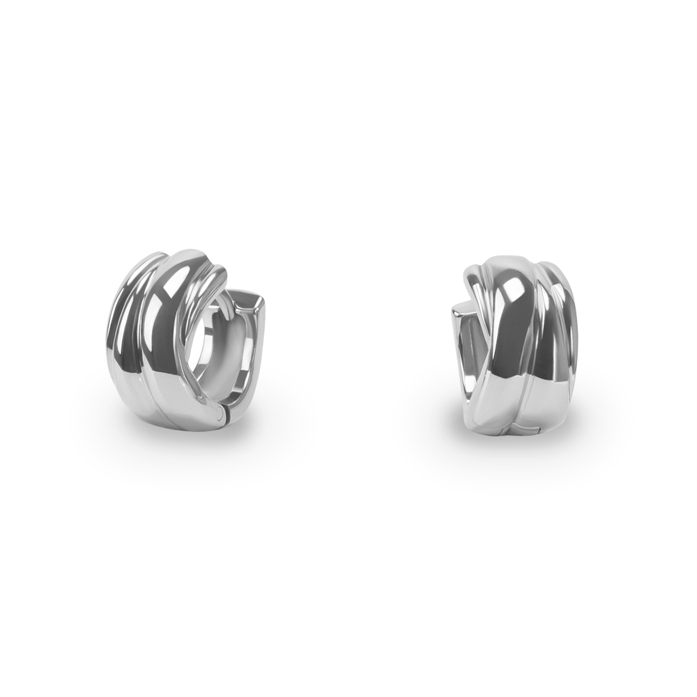 stainless-crossed-round-hypoallergenic-earrings-huggies-multirangs-arrondis-acier-inox-hypoallergénique-T216E004