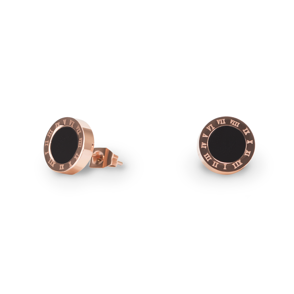 stainless-rose-gold-black-round-stud-earrings-boucles-oreilles-rond-noir-or-rose-acier-inox-T316E001DORO-MIA
