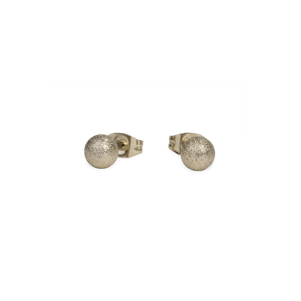 chic gold bead stud earrings hypoallergenic
