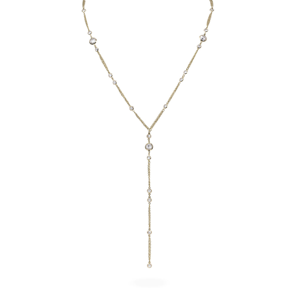 Chic long necklace for women stainless steel