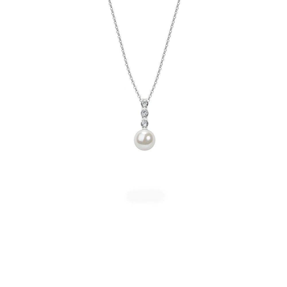 pearl and stones pendant necklace