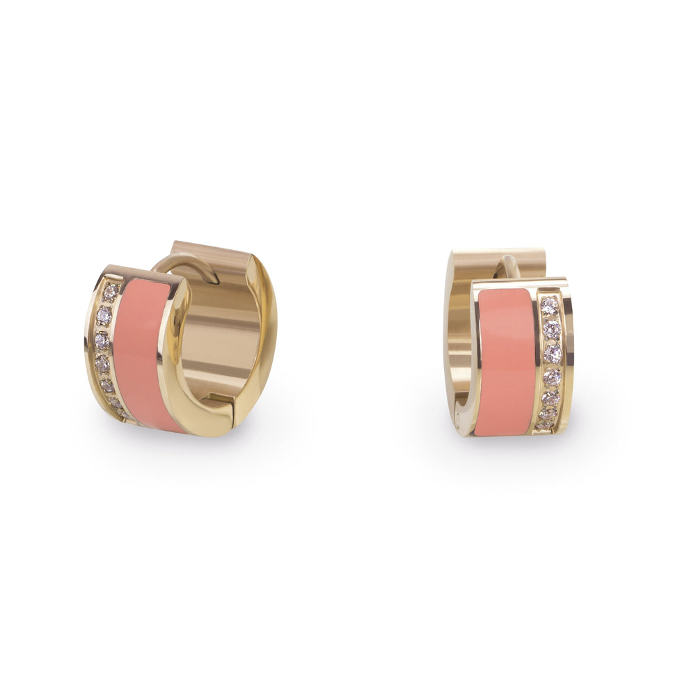 coral-gold-huggie-earrings-stainless-hypoallergenic-T216E001CO-MIA