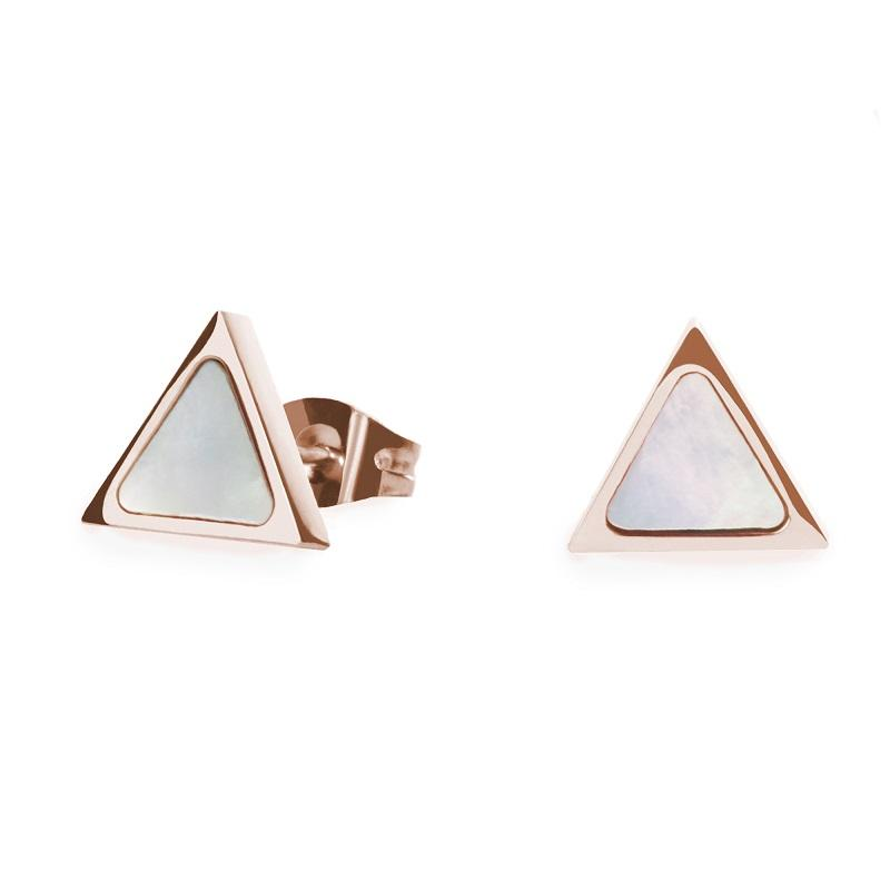 rose gold geometric stud earrings for women