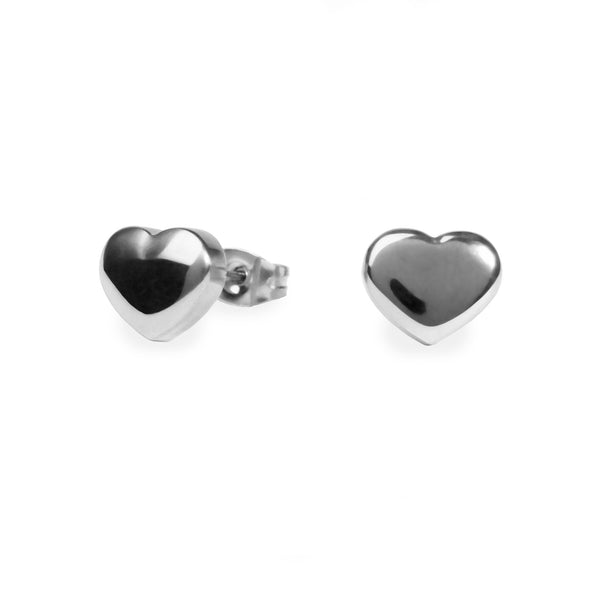 hypoallergenic heart stud earrings for women