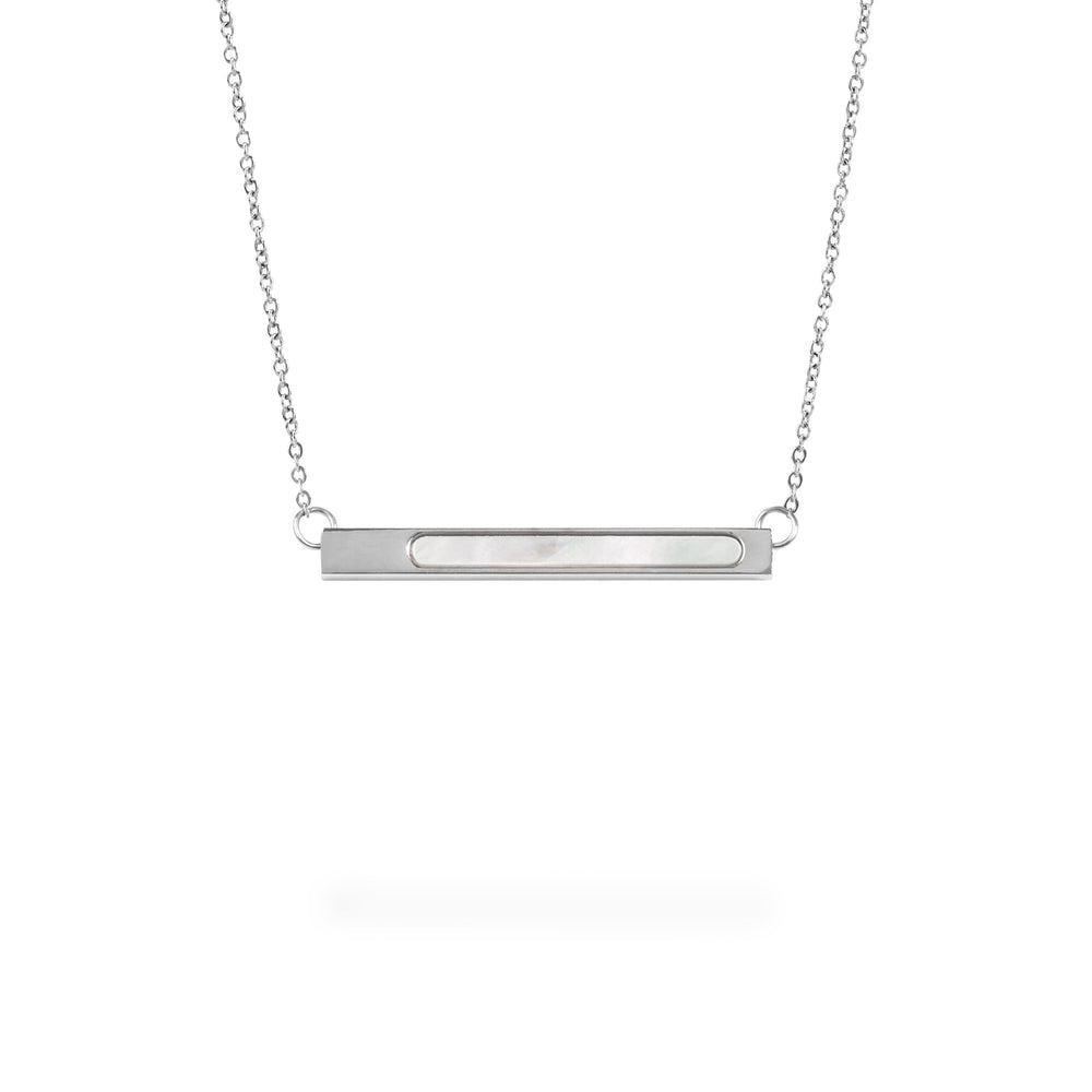 geometric bar pendant necklace for women
