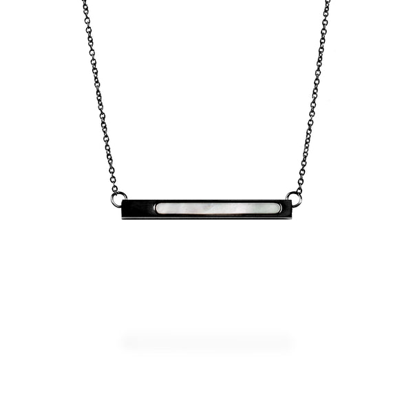 black geometric pendant necklace for women