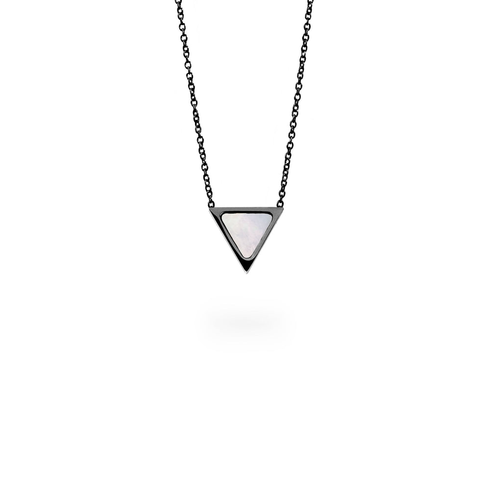 black triangle pendant necklace for women