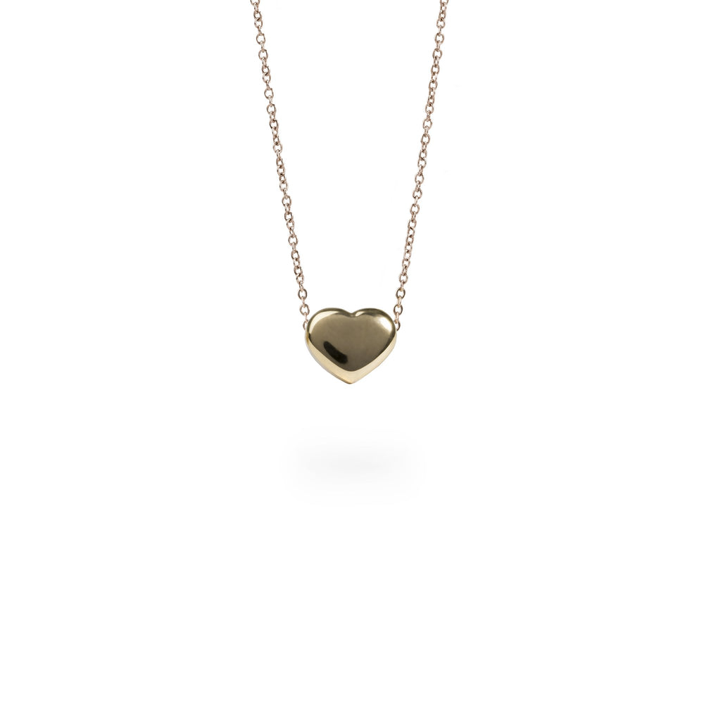gold heart pendant necklace for women