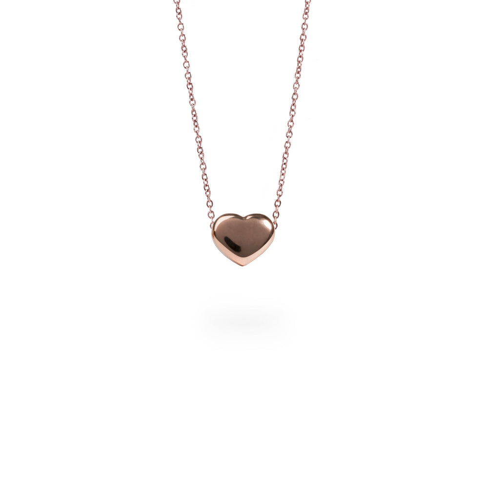 rose gold heart pendant necklace for women