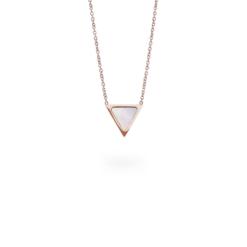 triangle pendant necklace rose gold for women