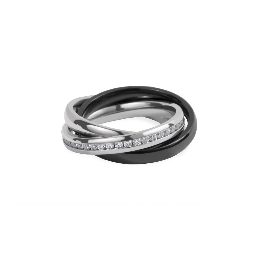 trinity ring stainless steel