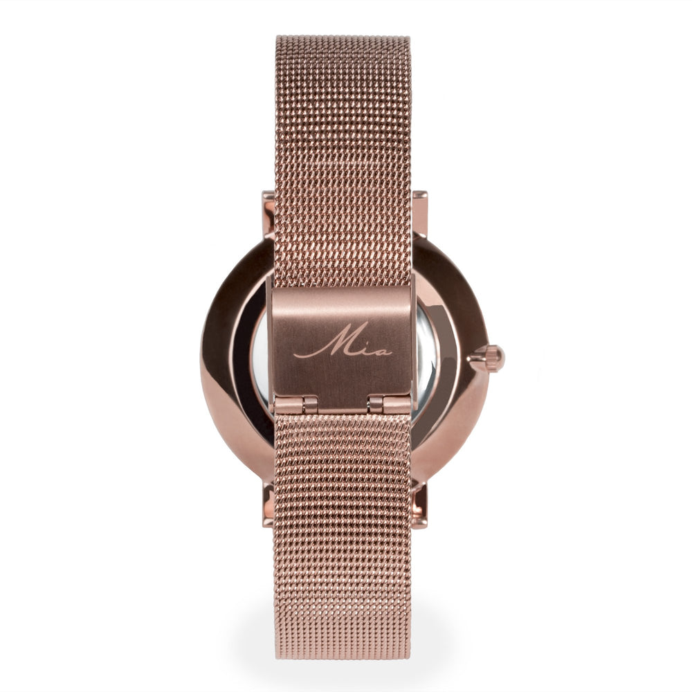 watch-women-rose-gold-white-mesh-bracelet-stainless-steel-W317M02-MIA