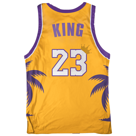 save off 5c507 92c73 Lebron James Basketball Jersey: King Of LA