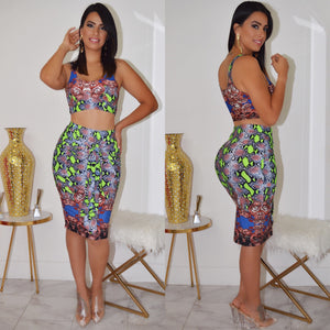 Jade Skirt Set - La Epoca Fashion