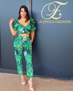 Load image into Gallery viewer, Lets Set it Off  Leaf Print Pant  Set