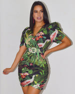 Load image into Gallery viewer, Take me To Paradise Brunch Belted Dress