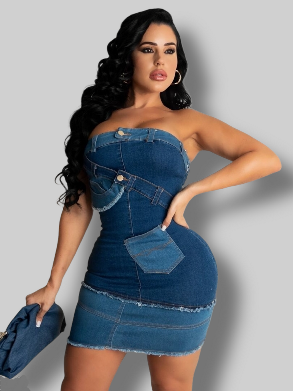 Denim on Me Mini Dress - La Epoca Fashion