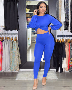 Khaled So Cute Royal Pant  Set - La Epoca Fashion