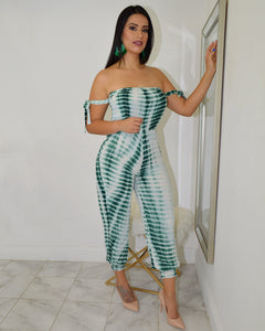 Island Queen  Tie Dye Jumpsuit - La Epoca Fashion