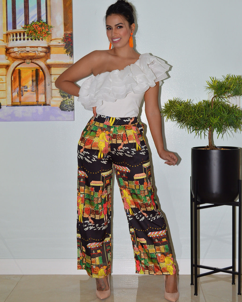 Tropics Call Me Satin Pants - La Epoca Fashion