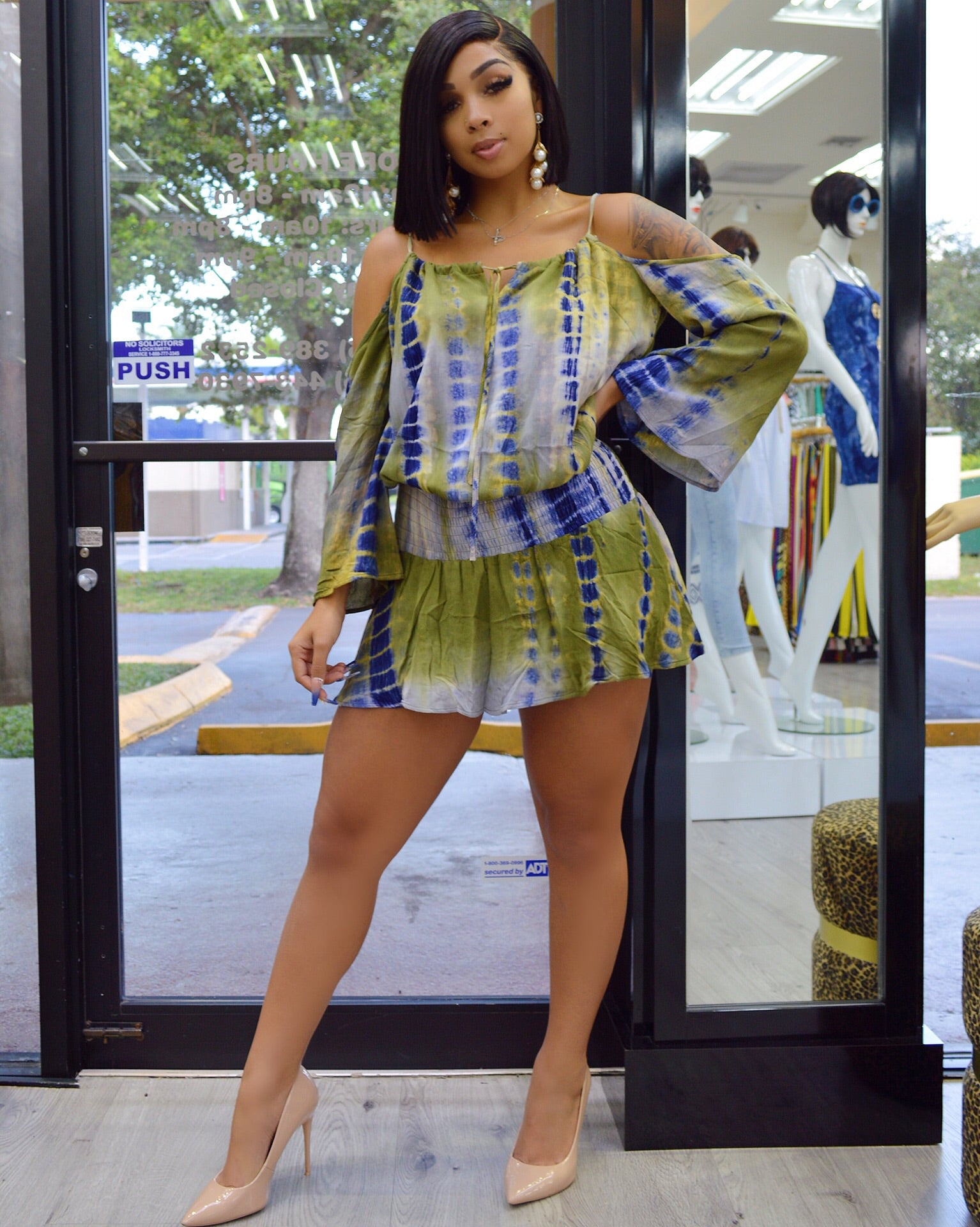 Trisha Tie Dye Boho Chic Dress
