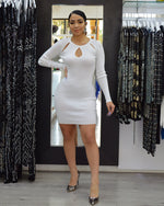 Load image into Gallery viewer, Daiana Sweater White Dress