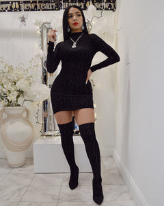 Madonna Mia Black Mini Dress