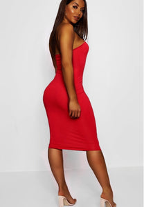 Share the Love Strapless Red  Dress