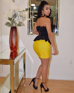 Take Me to the Limit Yellow Bandage Skirt