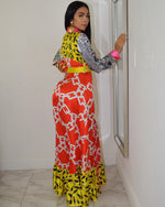 Load image into Gallery viewer, Chic in Print Long Sleeve  Maxi Dress - La Epoca Fashion