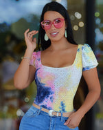 Load image into Gallery viewer, Kleux Tie Dye Round Neck Blouse