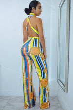 Load image into Gallery viewer, Hotter than Sun Print Maxi Jumpsuit