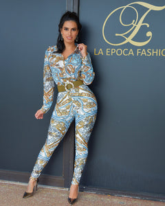 Versus White Chain Print Pants Set - La Epoca Fashion