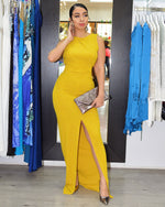 Load image into Gallery viewer, Amanda Marie V Back Maxi Dress