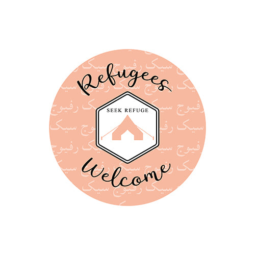Refugees Welcome Stickers (Pack of 6)