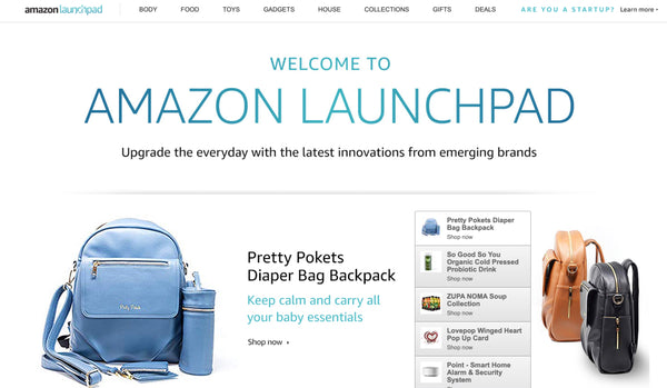 Pretty Pokets Diaper Bag on Amazon LaunchPad