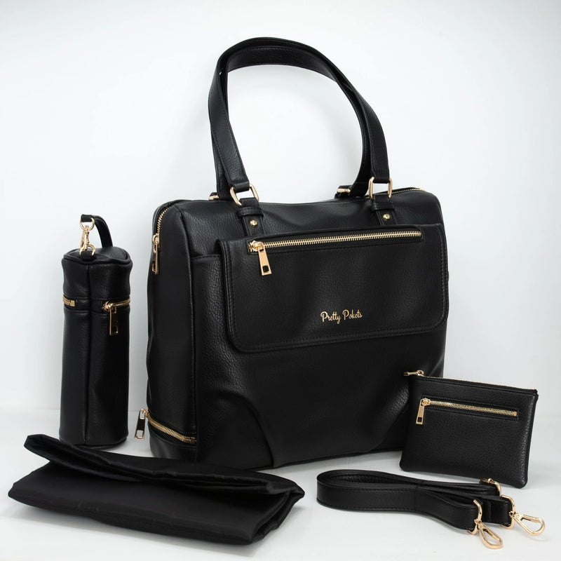 Diaper Bag Handbag -Black