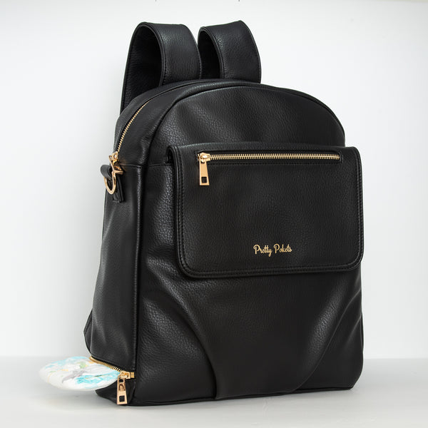 Shayla Diaper Bag Backpack -Black