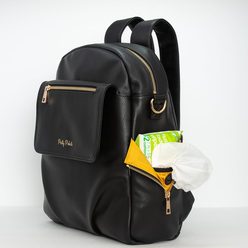 Shayla Diaper Bag Backpack -Black - Pretty Pokets