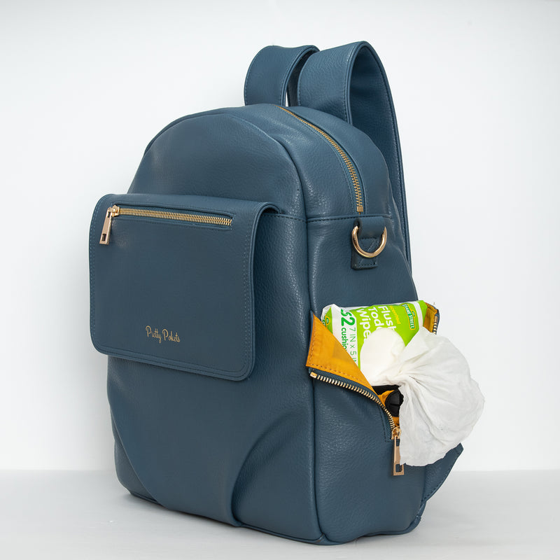 Shayla Diaper Bag Backpack -Blue