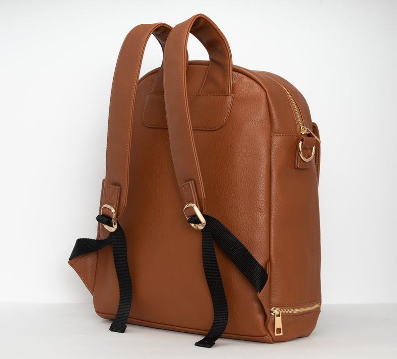 Shayla Diaper Bag Backpack -Brown