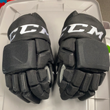 "Used CCM HGQLXP Anaheim Ducks Hockey Gloves - 14"" - Unknown player"