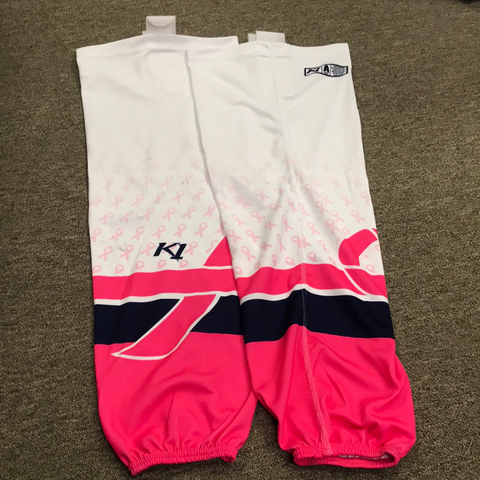 Used Breast Cancer Awareness Socks - 29""