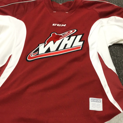 Used WHL CCM Maroon Practice Jersey - 56