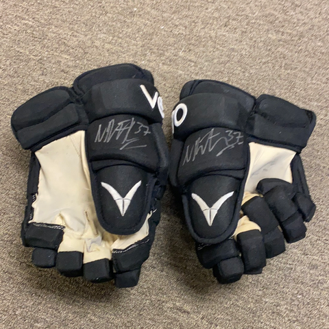 Used and Autographed Nick Ritchie Verbero Gloves - 14""