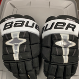 "Used Bauer Nexus 1N Hockey Gloves - 14"" - Gudbranson Penguins"