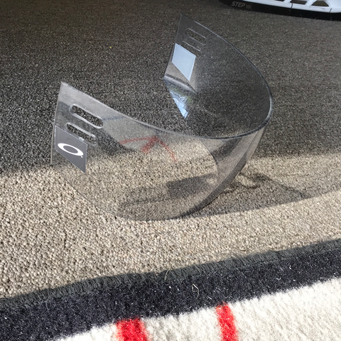 Used Oakley Tinted Helmet Visor - 4 in thick