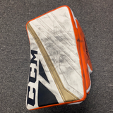 John Gibson Used CCM Blocker - Anaheim Ducks