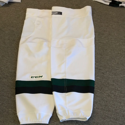 Used White Cedar Rapids Roughriders CCM Socks - X-Large+